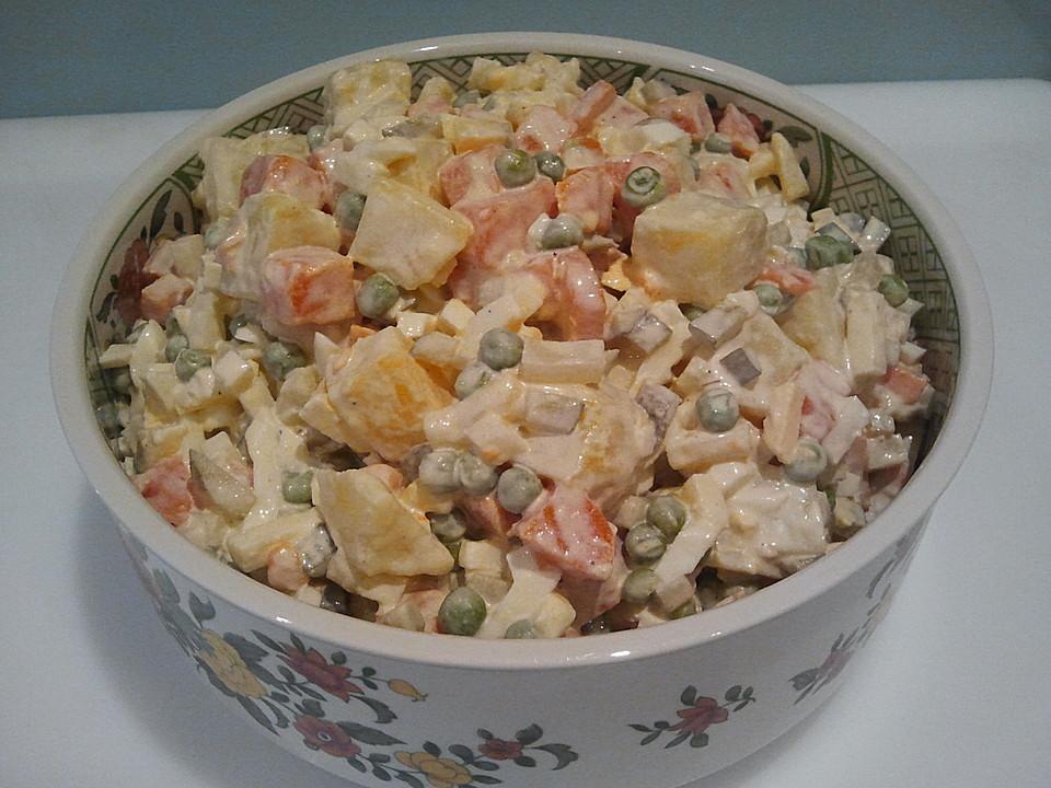 Polnischer Gemüsesalat Mit Mayonnaise Von Sacurann Chefkoch