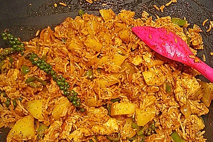 Chicken Biriyani mit Buttermilch Tomaten Rajita