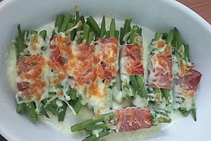 Überbackene grüne Bohnen mit Bacon 3
