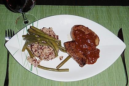 Hüftsteaks mit Rotwein - Zwiebel - Soße 2
