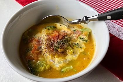 Brokkoli - Tomaten - Möhren - Suppe (Bild)