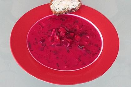 Kalte Suppe mit roter Bete für heiße Sommertage - ohne Kochen 1