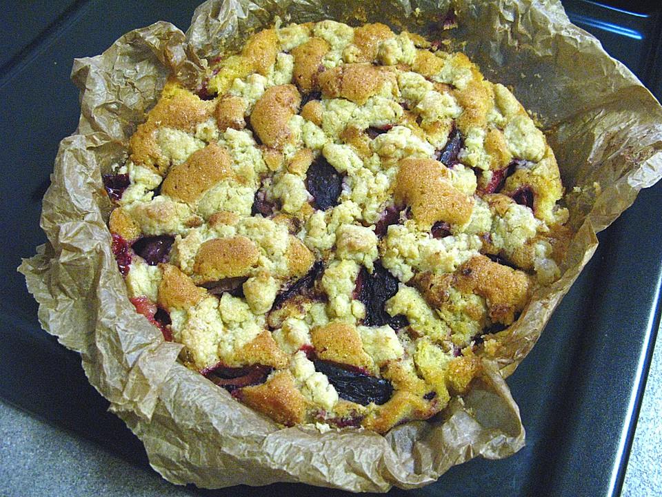 Pflaumen Quark Kuchen Mit Streuseln Von Nane5381 Chefkoch De