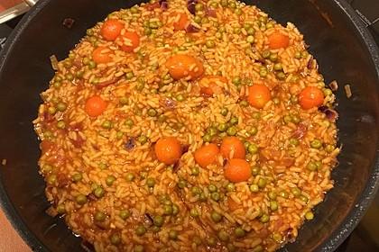 Mexikanischer Reis mit Chilis und Erbsen 4