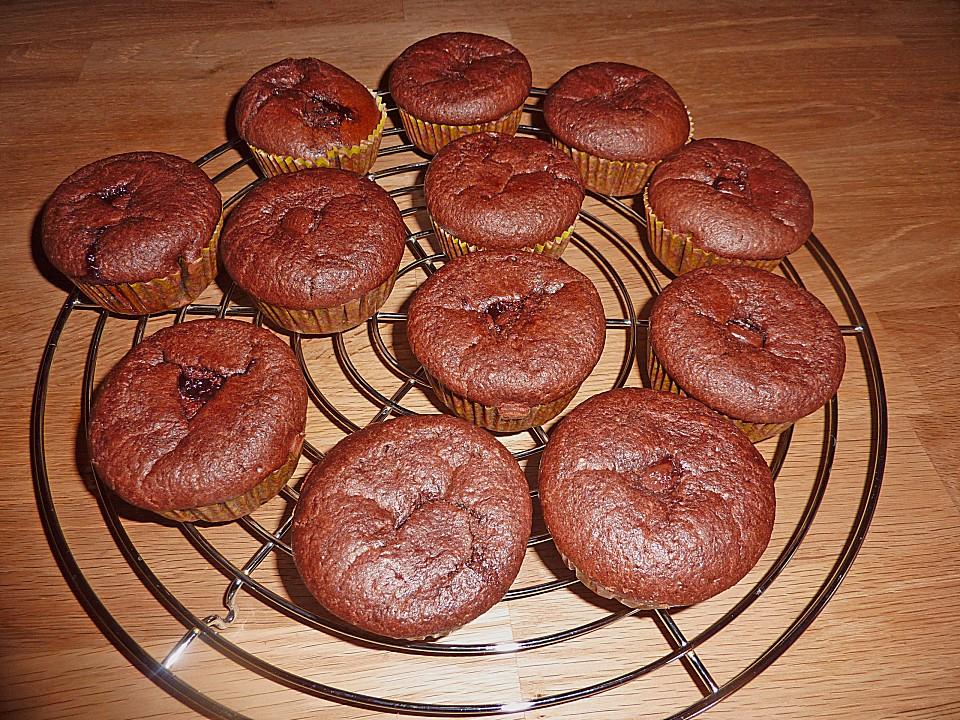 Schoko Muffins Mit Mon Cheri Von Schleckerlecker Chefkoch De