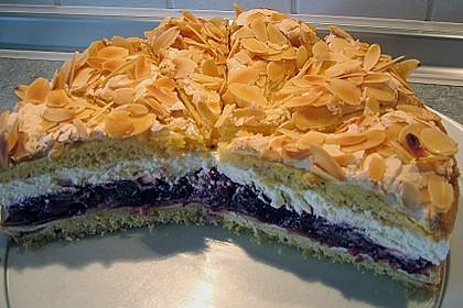 Hansen - Jensen - Torte mit Sauerkirschen 3