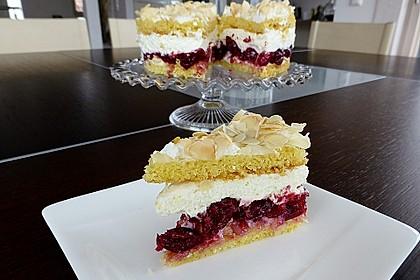 Hansen - Jensen - Torte mit Sauerkirschen 9
