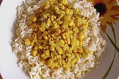 Reis mit Curry - Linsen