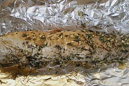 Schweinefilet im Kräuter - Knoblauch - Mantel 5
