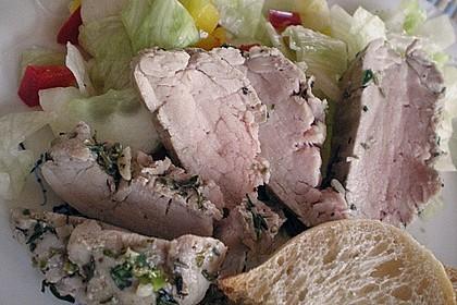 Schweinefilet im Kräuter - Knoblauch - Mantel 9