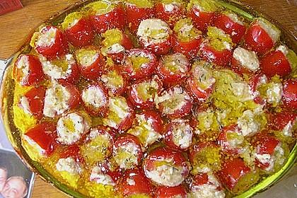 Gefüllte Tomaten mit Schafskäsecreme 1