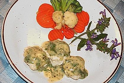 Feine Fischklößchen mit Zitronen - Kerbel - Sauce 1