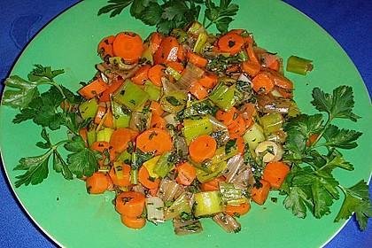 Möhren - Lauch - Salat