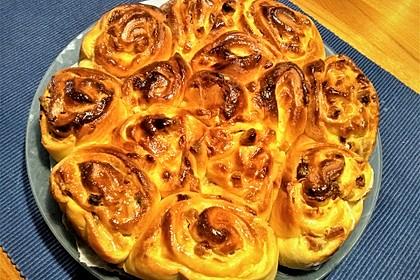 Aprikosen - Rahm - Rosenkuchen (Bild)