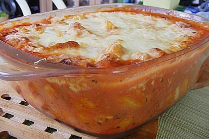 Gnocchi - Auflauf mit Tomate und Mozzarella (Bild)
