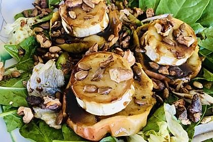 Überbackener Ziegenkäse mit Honigsauce (Bild)
