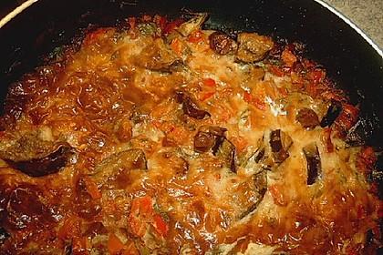 Gemüse - Cabanossi - Auflauf mit Käse überbacken (Bild)