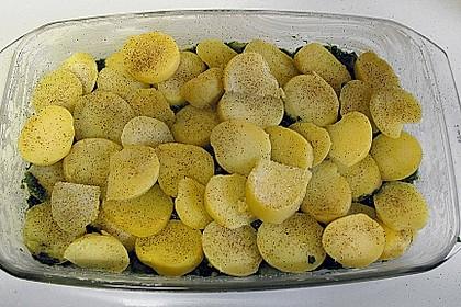 Kartoffel - Fisch - Auflauf mit Spinat 7