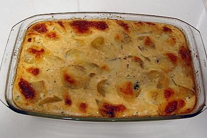 Kartoffel - Fisch - Auflauf mit Spinat 3