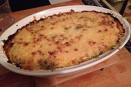 Kartoffel - Fisch - Auflauf mit Spinat