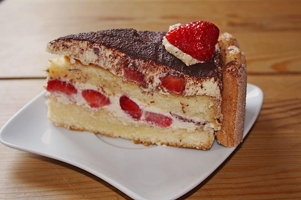 Erdbeer Tiramisu Torte Von Ela Back Chefkoch De