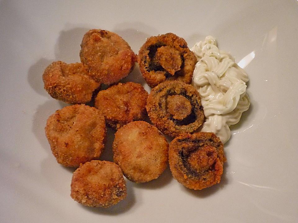 Champignons frittieren ohne teig