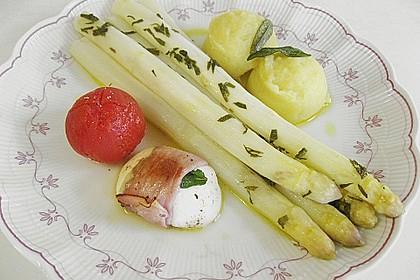 Spargel mit Mozzarella - Schinken - Päckchen