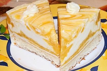 Marmorierte Mango - Joghurt - Torte