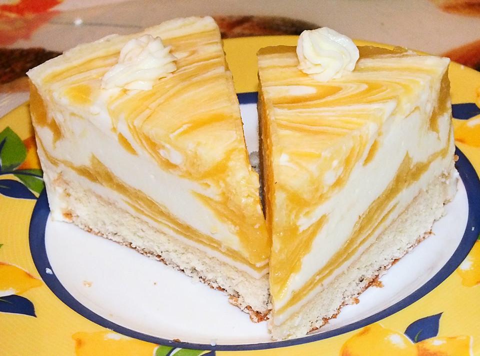 Marmorierte Mango Joghurt Torte Von Hexlein08 Chefkoch De
