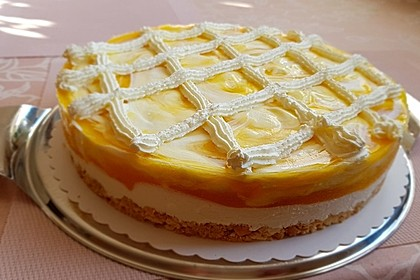 Marmorierte Mango - Joghurt - Torte 2