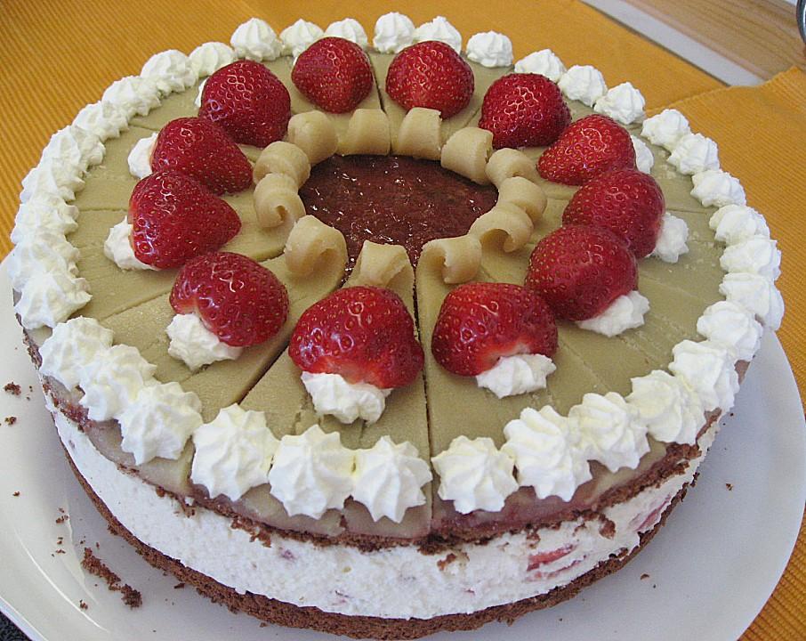 Erdbeer Marzipan Torte Von Liebeskeks Chefkoch De