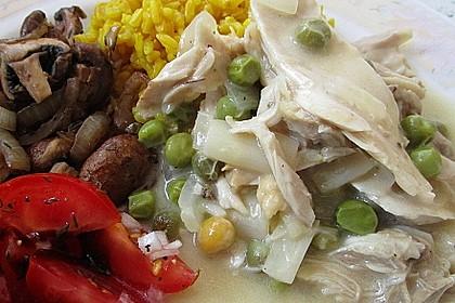 Hühnerfrikassee Grundrezept 4