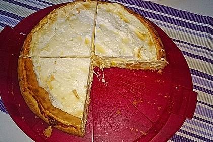 Vanille - Käse - Kuchen mit Pfirsichen 21
