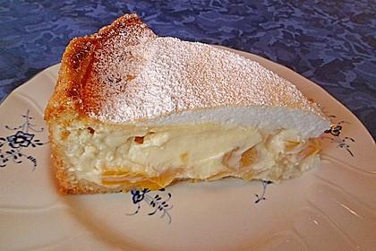 Vanille - Käse - Kuchen mit Pfirsichen 15