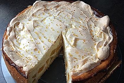 Vanille - Käse - Kuchen mit Pfirsichen 5