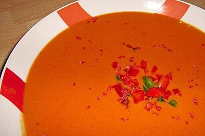 Orangen - Tomatensuppe