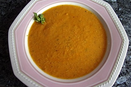 Orangen - Tomatensuppe 1