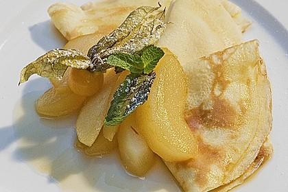 Crêpes mit heißen Birnen 1