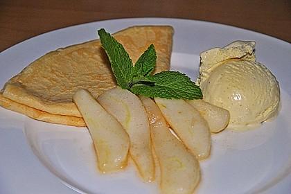 Crêpes mit heißen Birnen 4