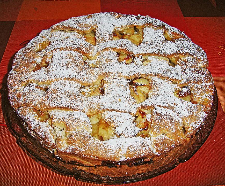 Apfel Marzipankuchen Mit Gitter Von Jesusfreak Chefkoch De