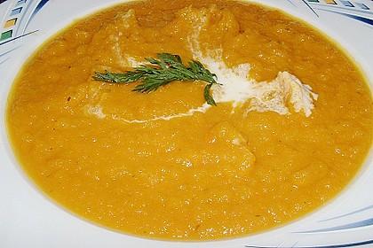 Möhren - Kürbissuppe