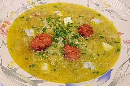 Zwiebelsuppe au Roquefort 1