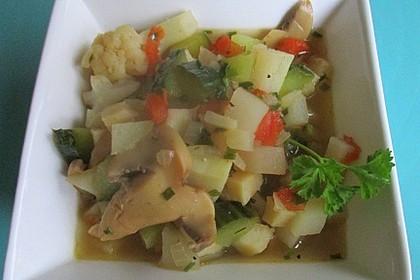 Gemüsesuppe für die Zündungsphase