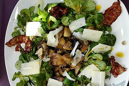 Salat mit Honigchampignons 6