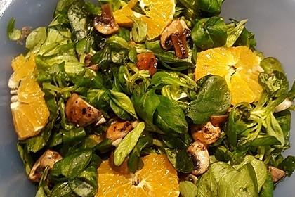 Salat mit Honigchampignons 9