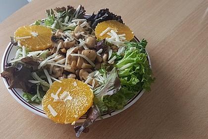 Salat mit Honigchampignons 12