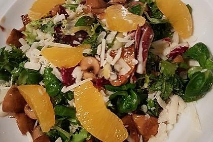 Salat mit Honigchampignons 3