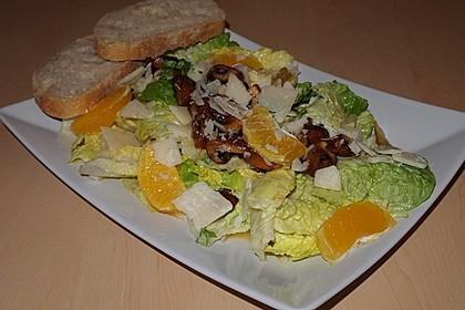 Salat mit Honigchampignons 47