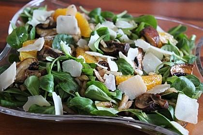 Salat mit Honigchampignons 2