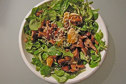 Salat mit Honigchampignons 31